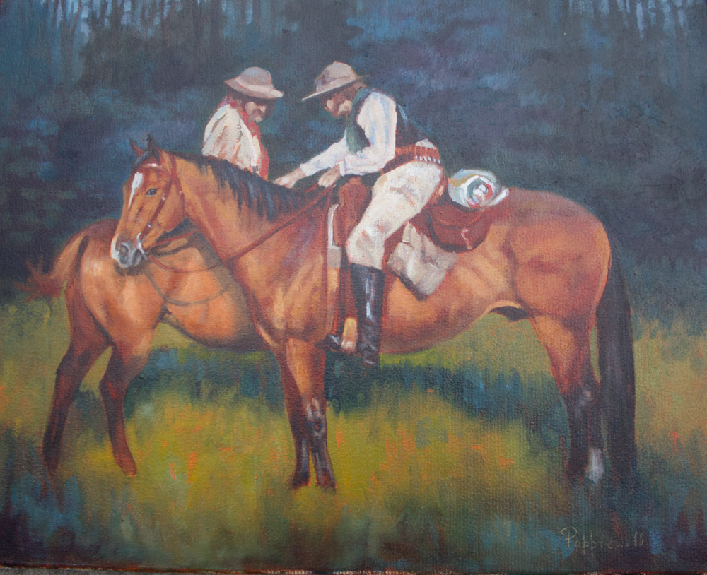 LOOKING FOR TRACKS 16X20